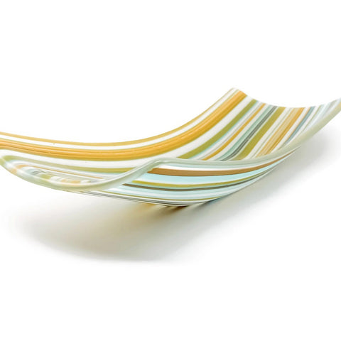 Striped Glass Dish