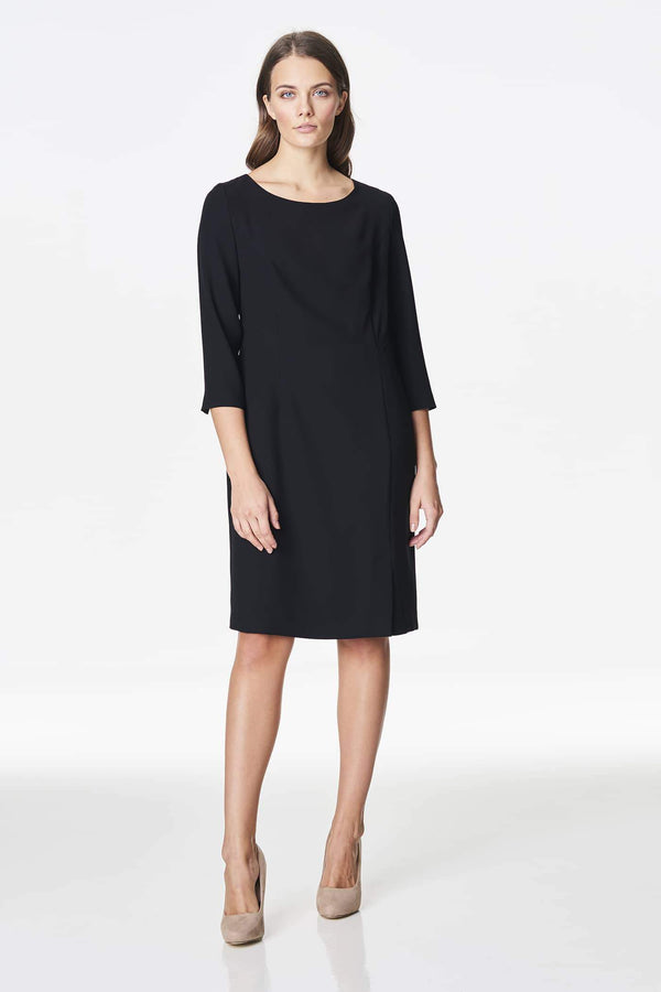 Voglia classic black dress with quarter sleeves
