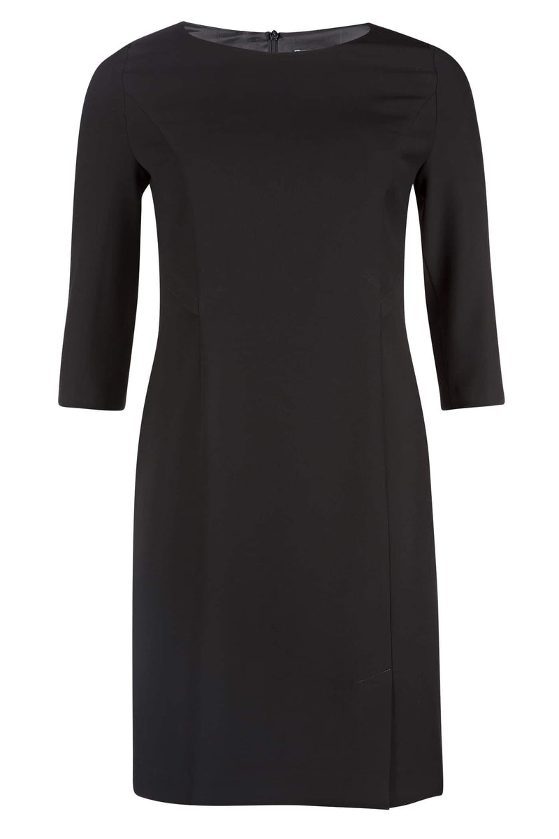 Classic Black Dress with 3/4 Sleeves