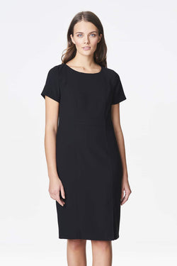Voglia knee-lenght classic black sheath dress
