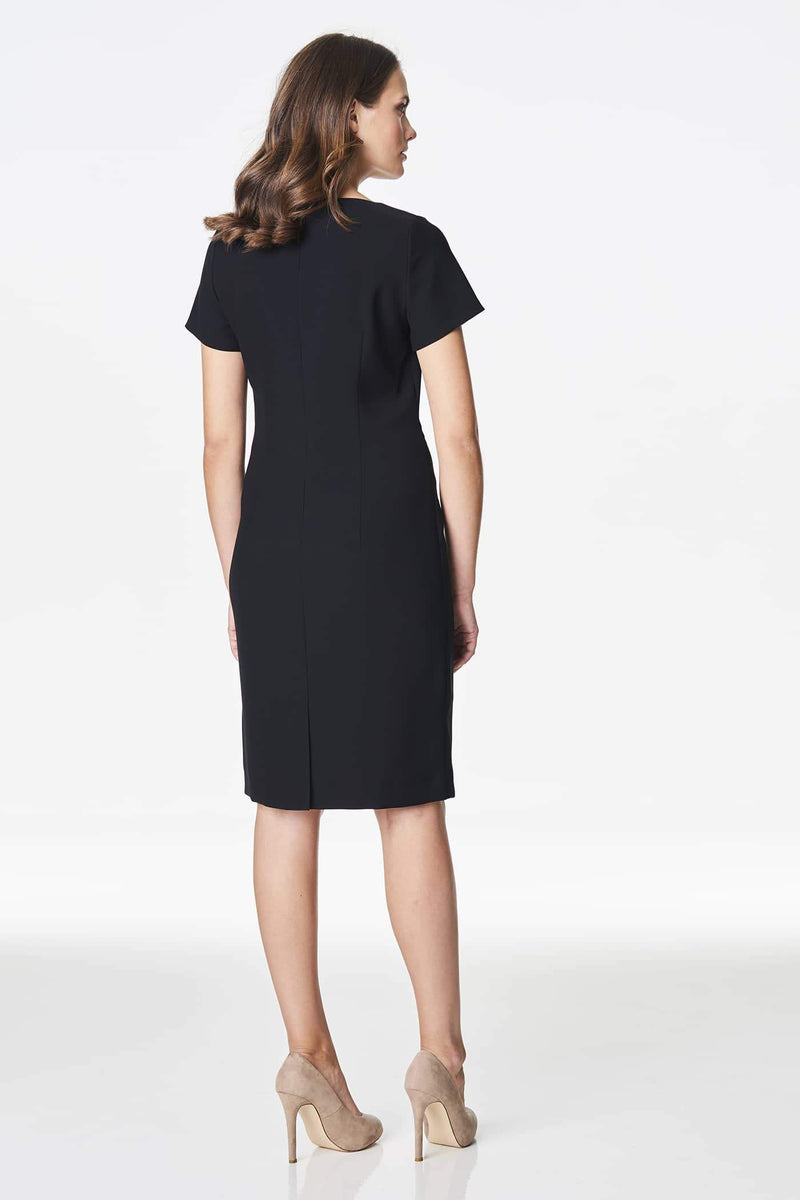 Voglia fitted classic black sheath dress