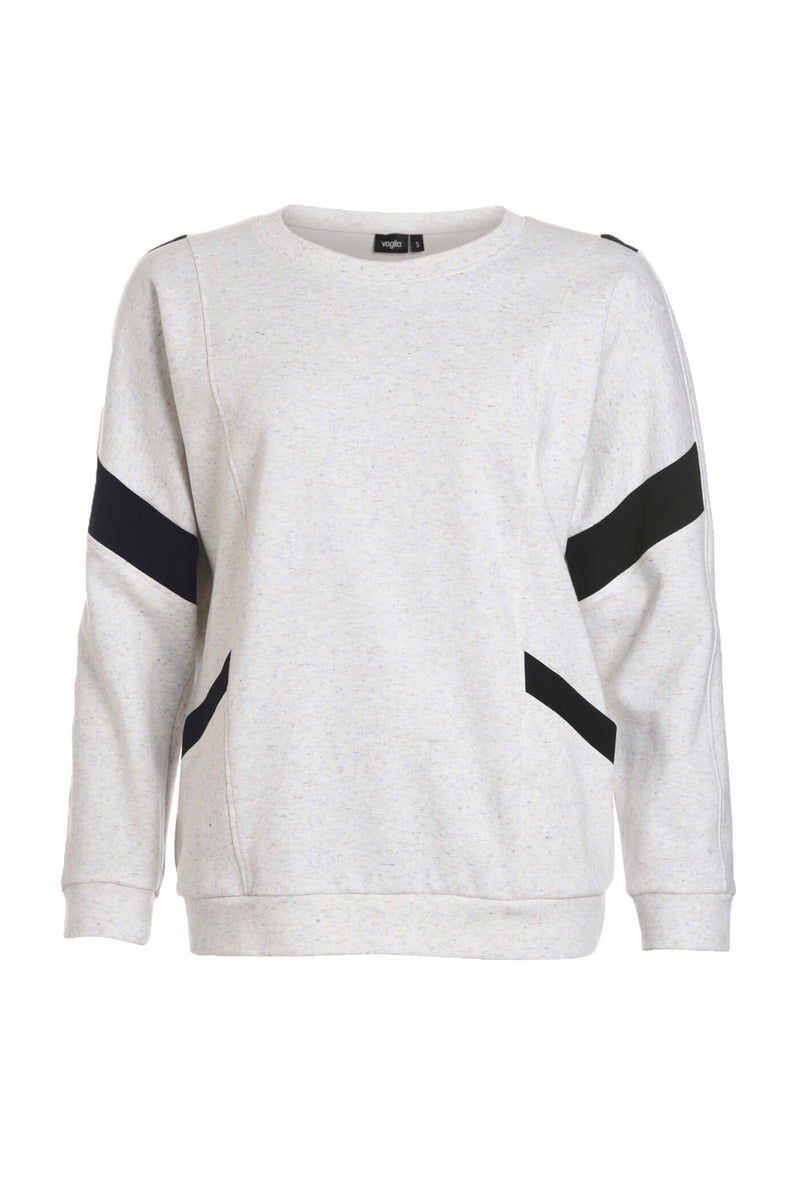 Kuura Light Gray Sweatshirt with Pockets