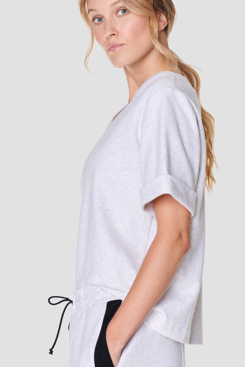 Kuura White V-Neck T-Shirt