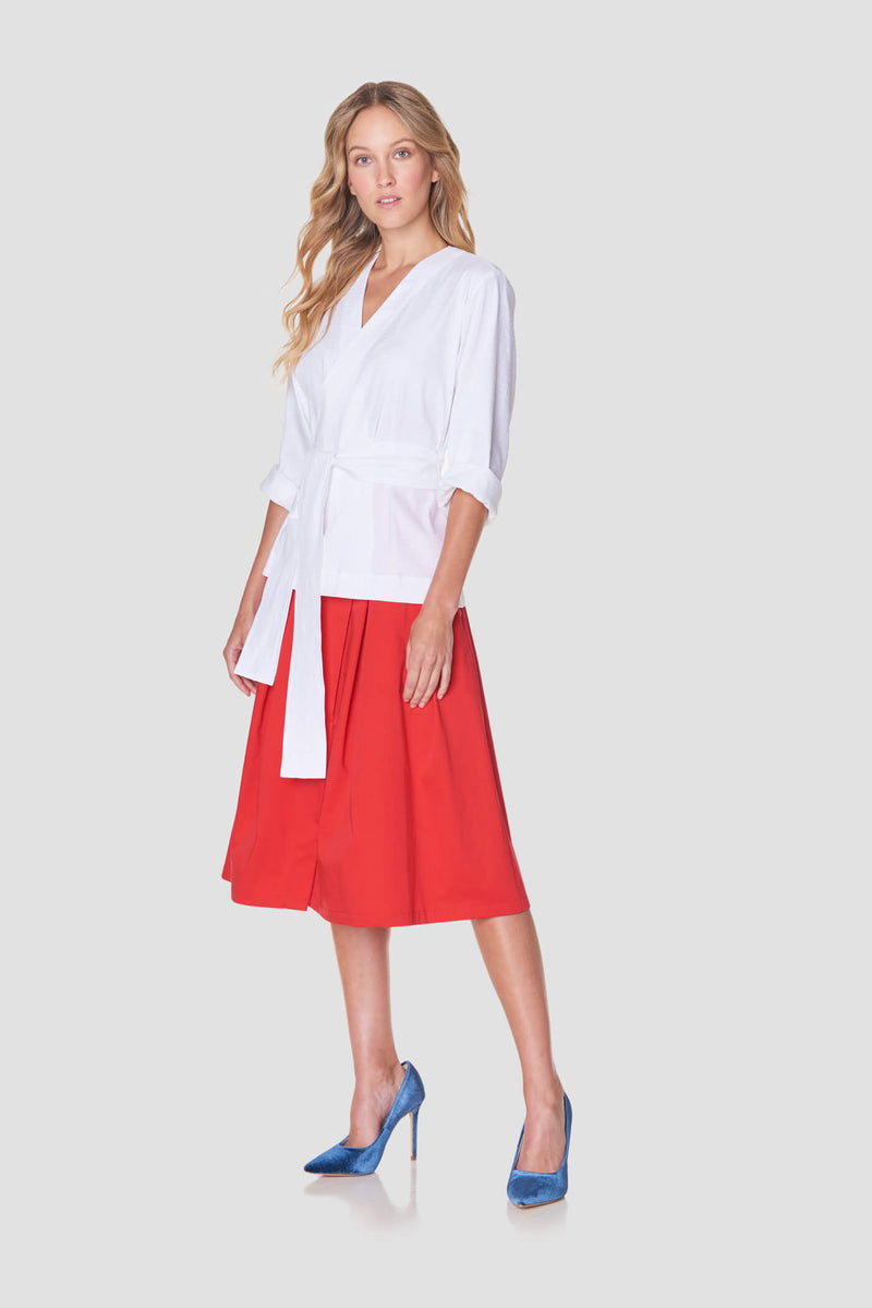 Cotton Skirt with Pockets