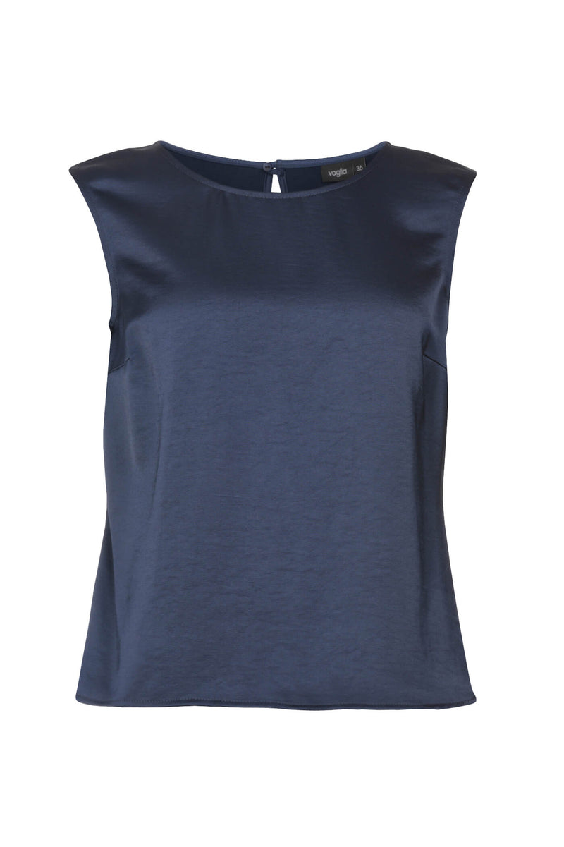 Sleeveless Fitted Blouse