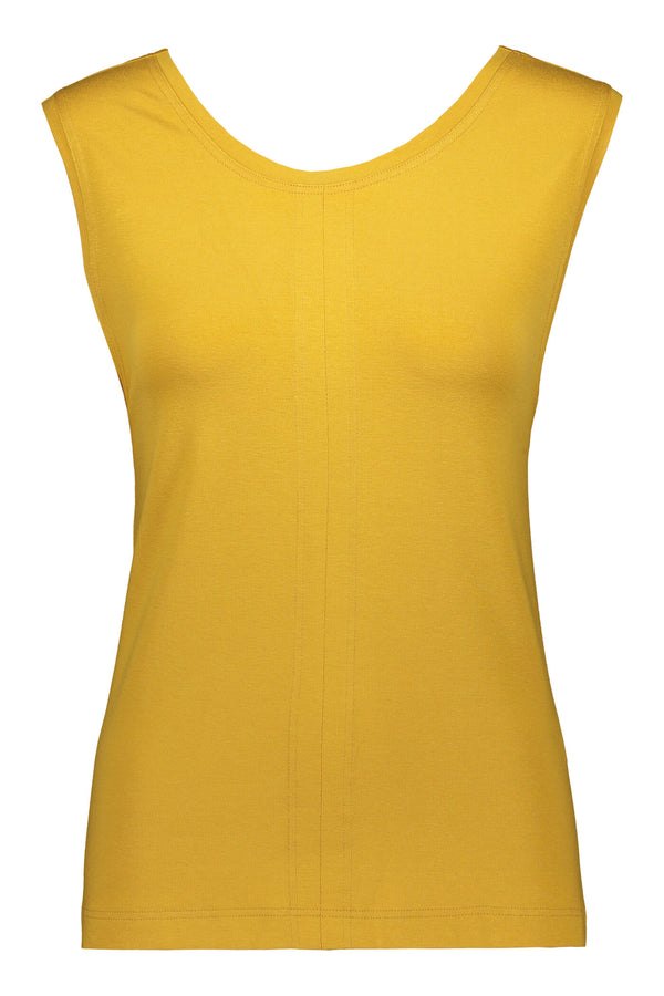 Yellow Criss Cross Back Top