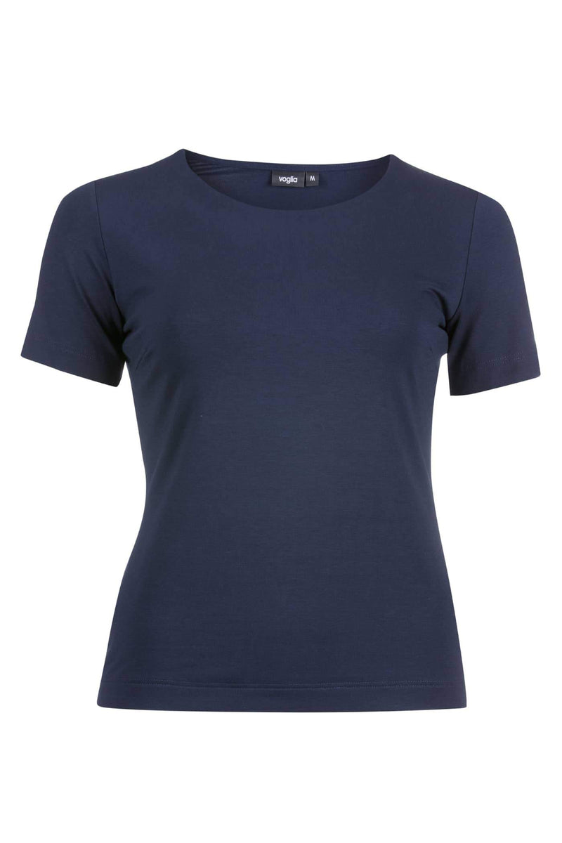 Basic Crew Neck T-Shirt Navy Blue
