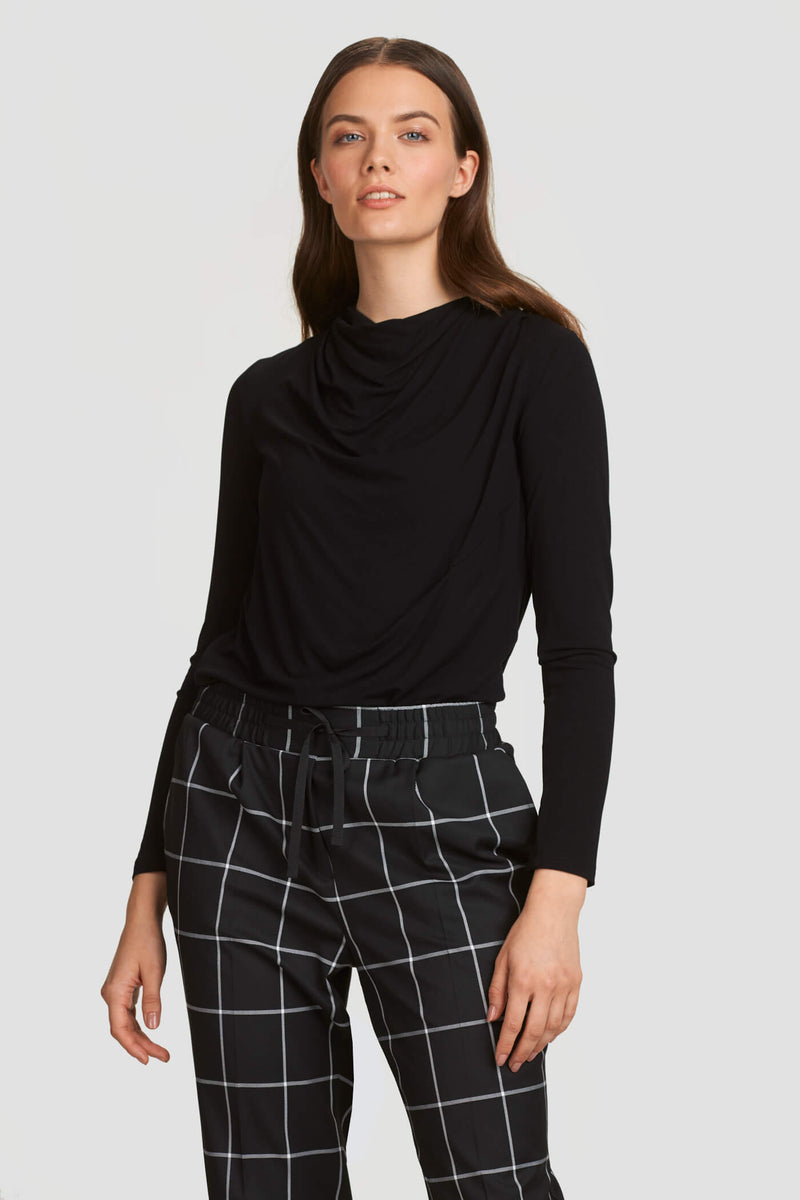 Checkered Pants with Drawstring Waist
