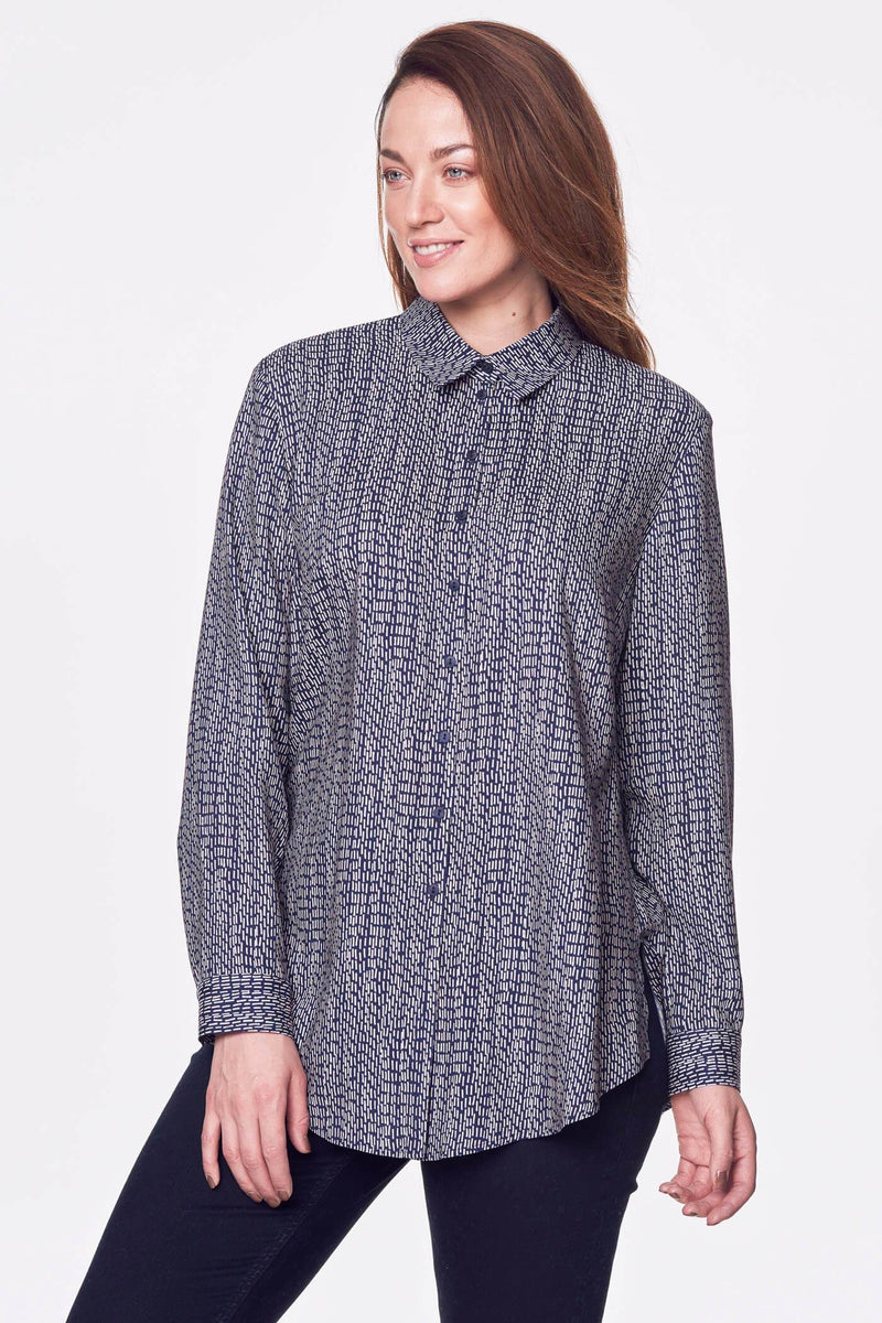 Loose Fit Button Up Shirt