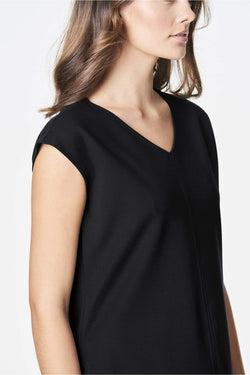 Voglia black cap sleeve top