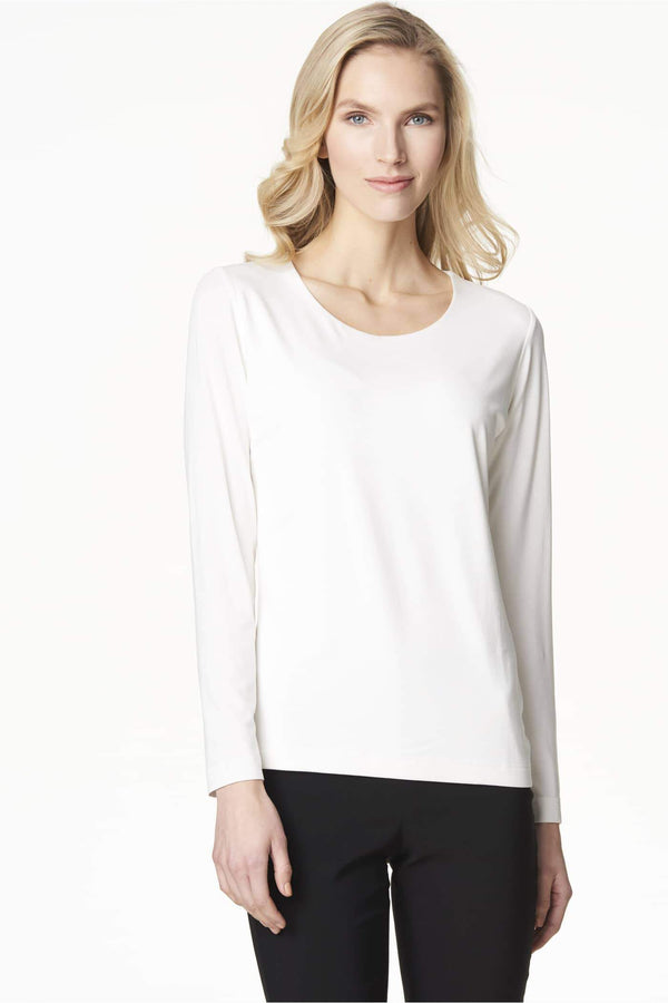 Voglia basic white long sleeved shirt