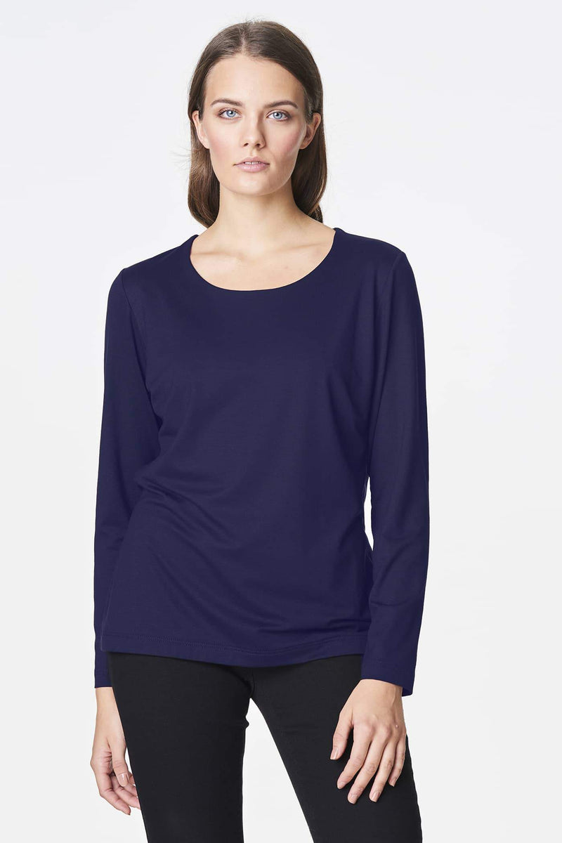 Voglia basic long sleeved blue shirt