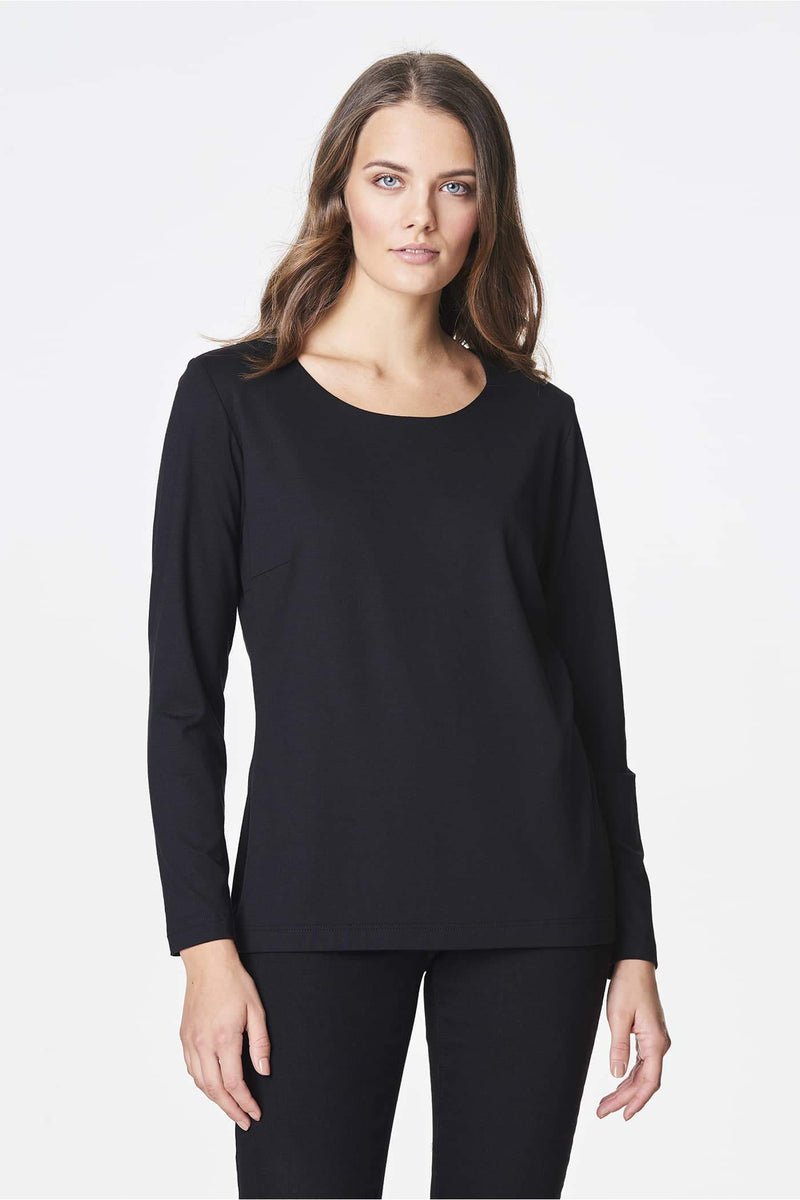 Voglia basic black long sleeved shirt