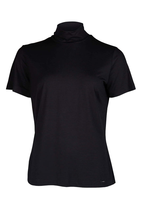Black Turtleneck Eco T-Shirt