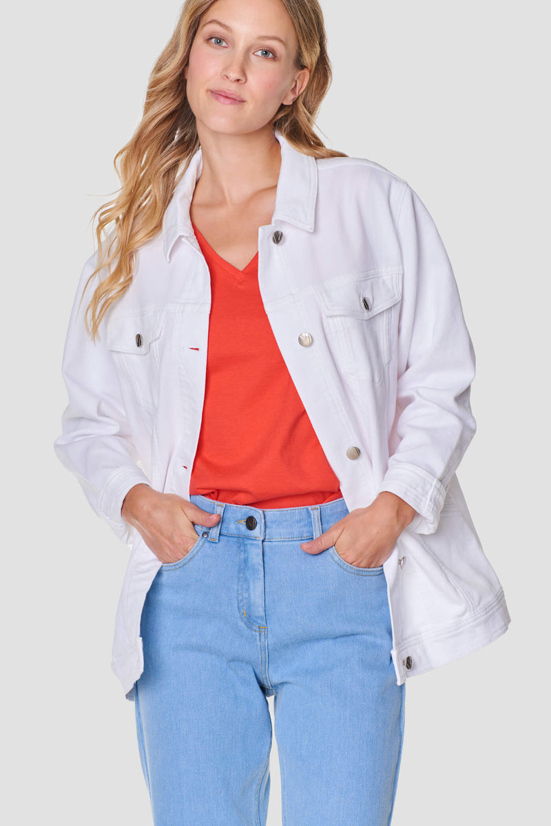 White Oversized Denim Jacket