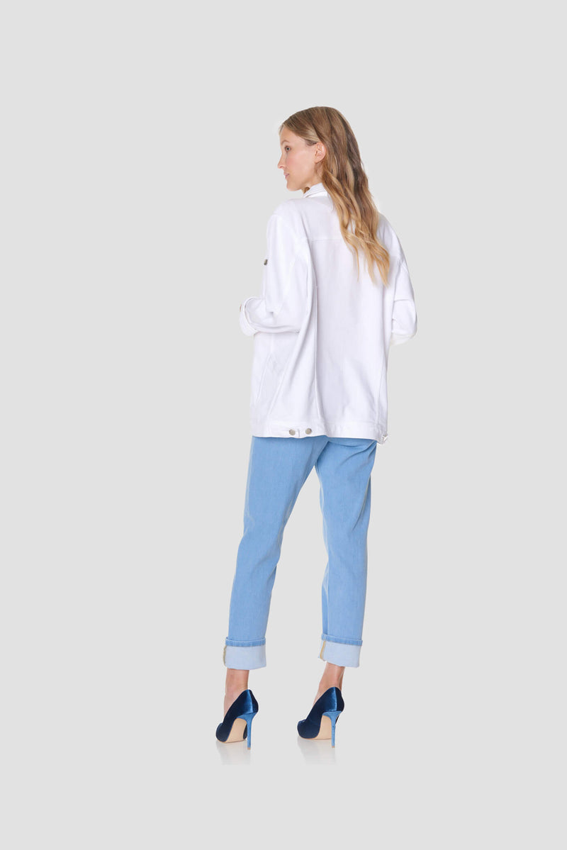High-rise Straight Leg Mom Jeans ISKO Denim