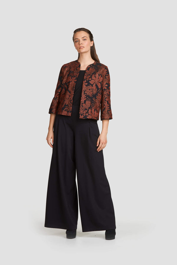 Jacquard Cropped Statement Blazer