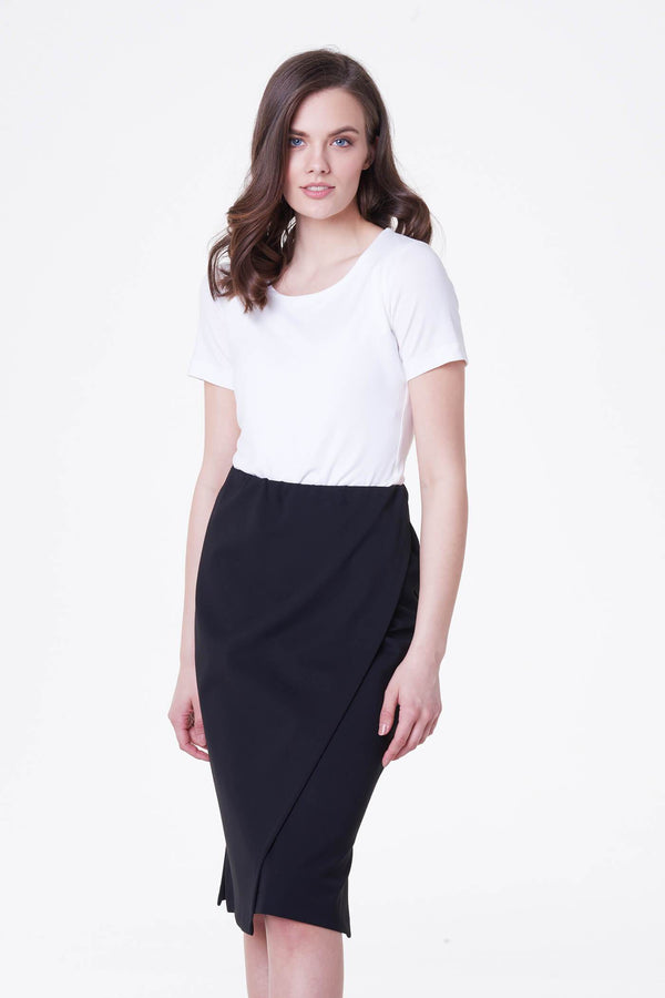 Voglia black knee-lenght pencil skirt