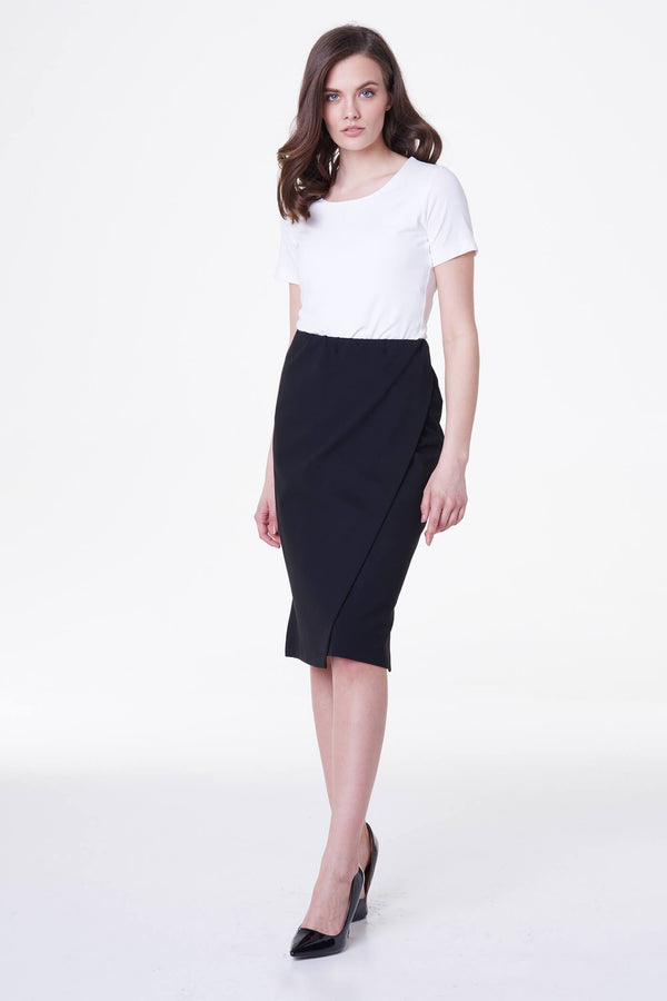 Voglia black pencil skirt