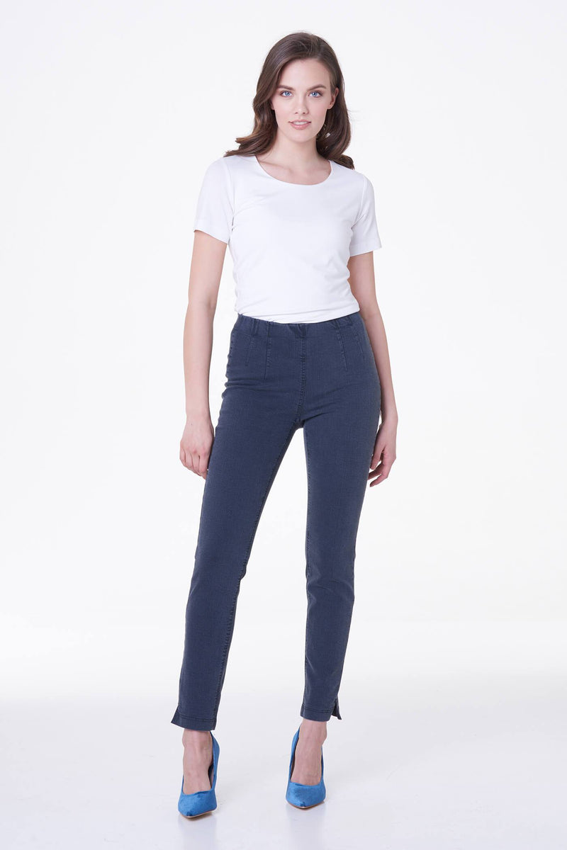 Voglia stretchy denim jeggings in gray