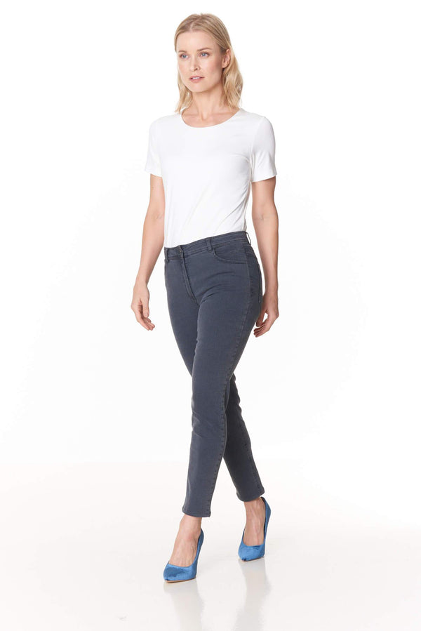 Voglia gray slim ankle lenght jeans