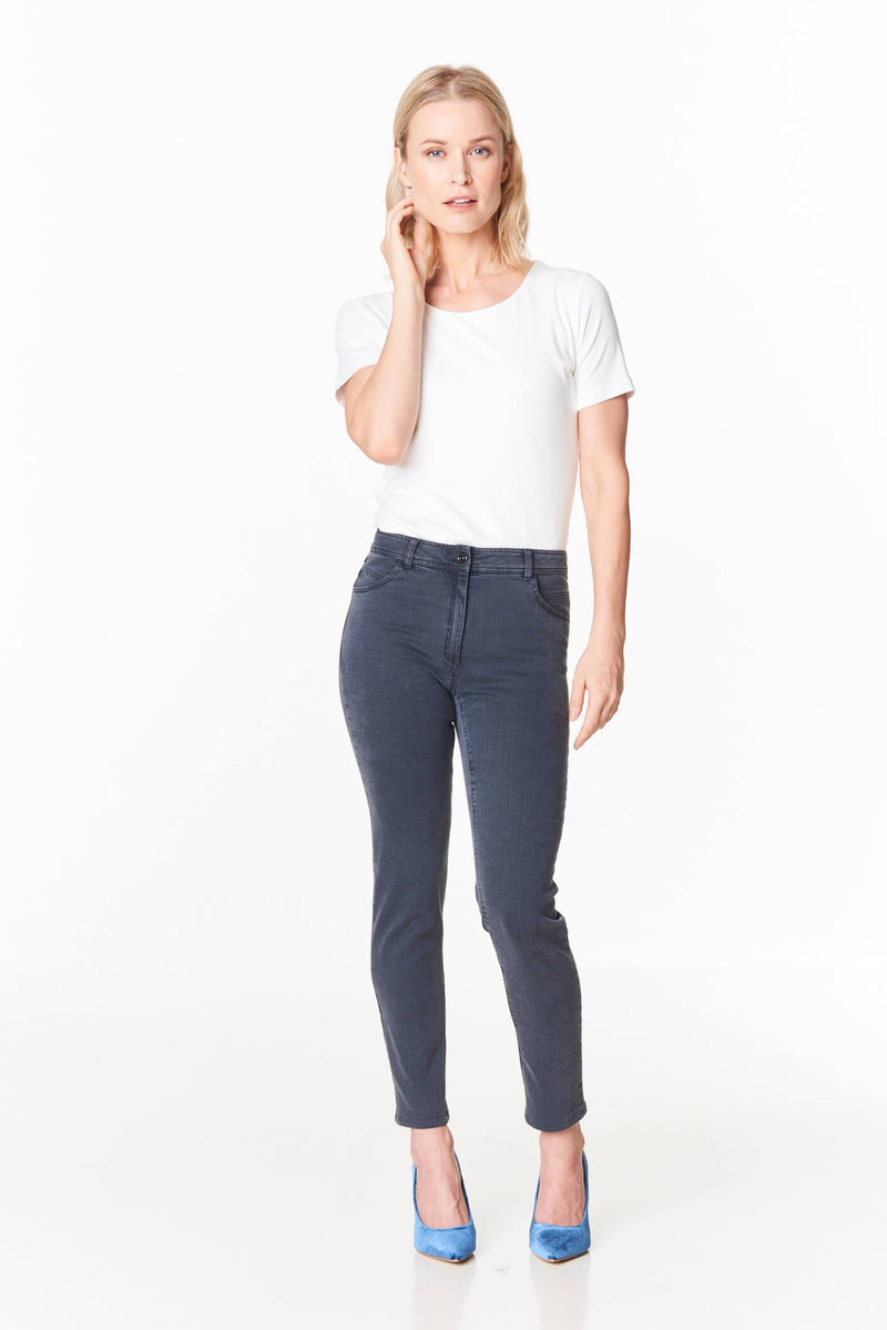 Voglia gray superstretch ankle lenght jeans