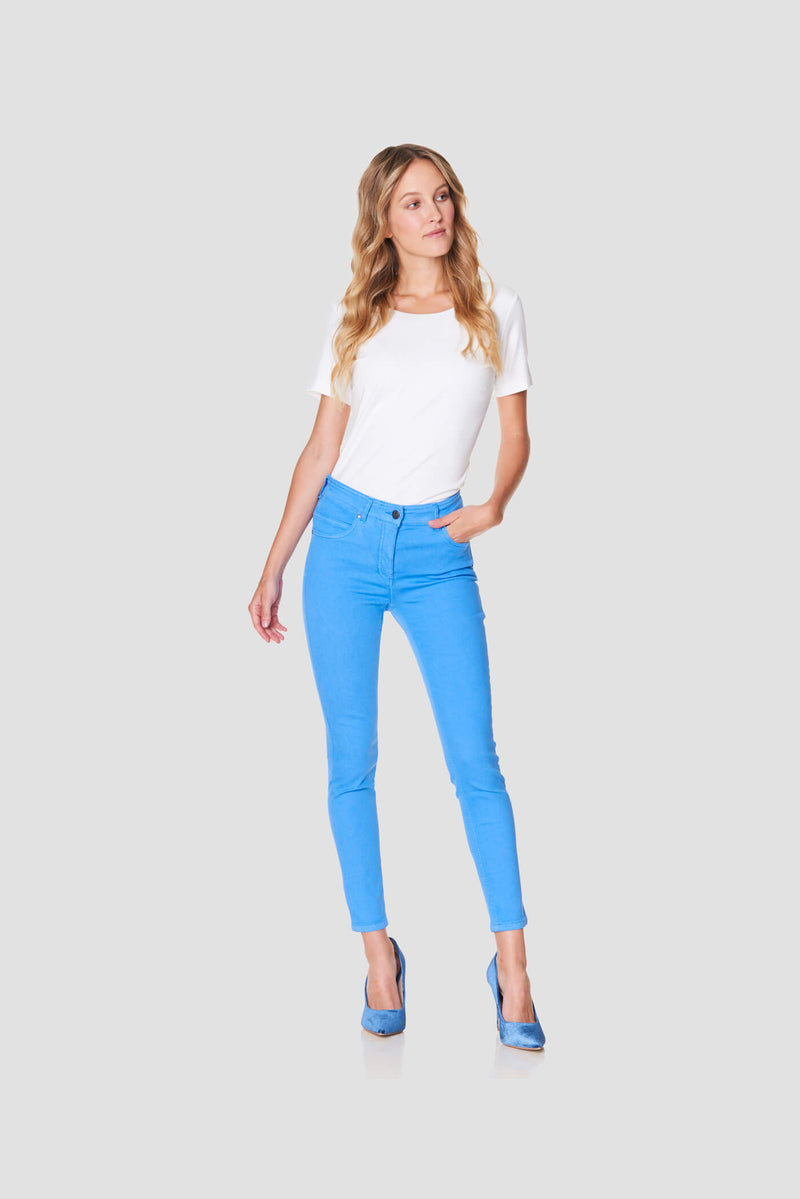 Seasonal Blue Stretch Ankle Jeans