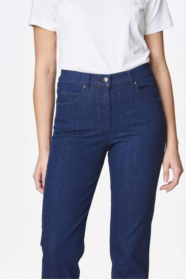 Eco Jeans Curvy Hip Dark Blue