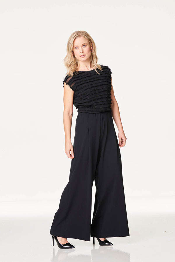 Extra Wide Leg Palazzo Trousers Black