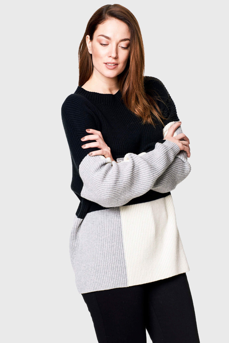 Ribbed Colorblock Sweater