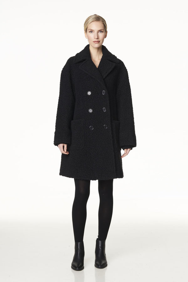 Voglia oversized teddy coat