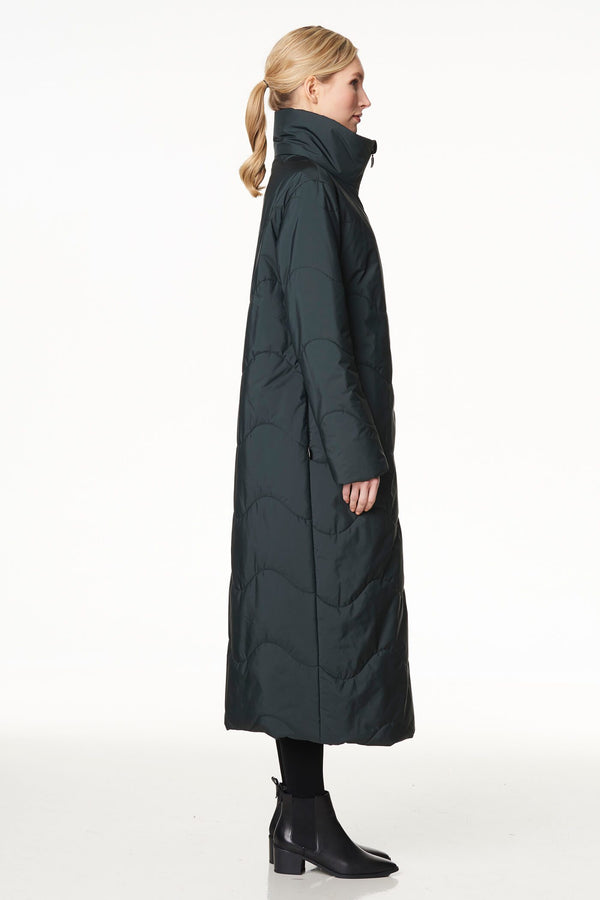 Voglia extra long puffer coat in green