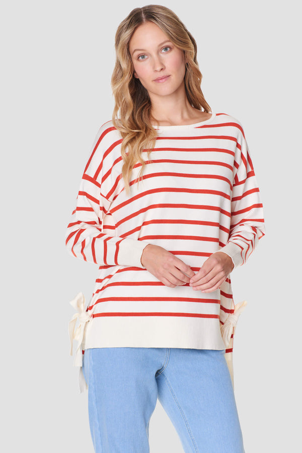 Voglia women's striped sweater loose fit