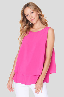 Voglia women's fuchsia sleeveless blouse