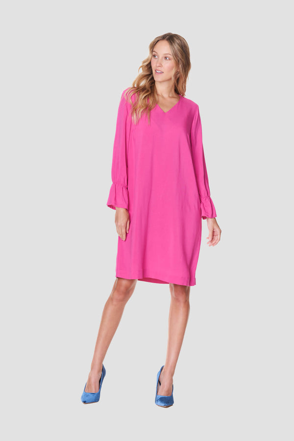 Voglia fuchsia loose fit dress