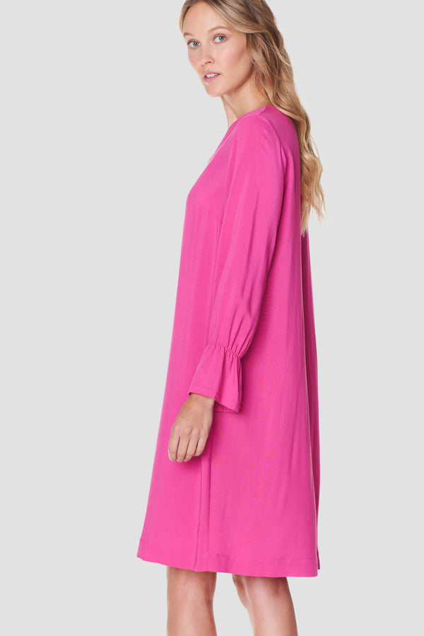 Voglia women's fuchsia loose fit dress