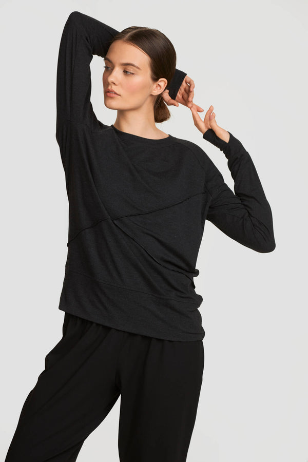 Dark Gray Warm-Up Long Sleeve Top