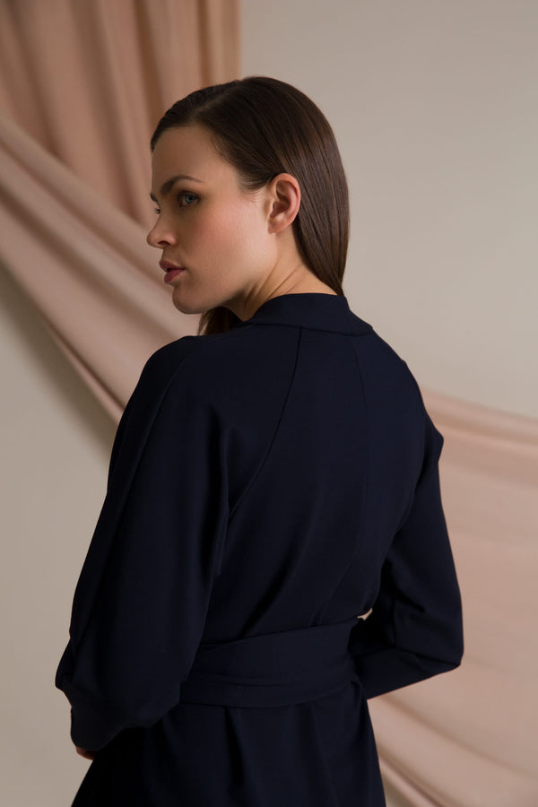 ABBEY Wrap Dress navy behind