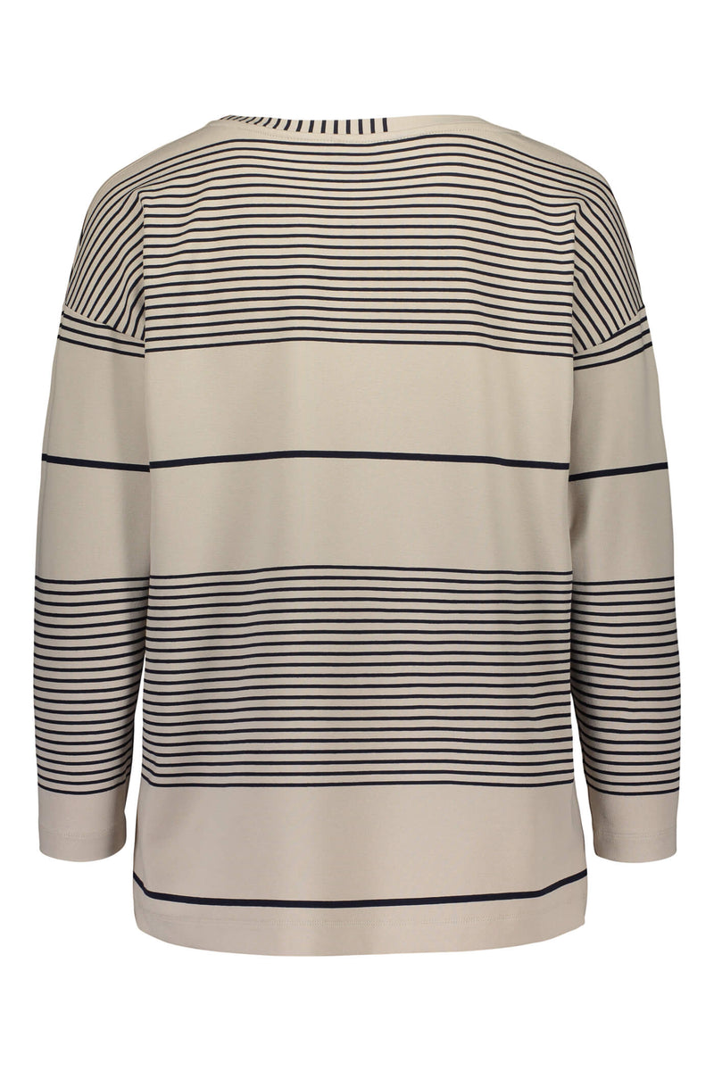 Ada striped jersey top grey/ navy back