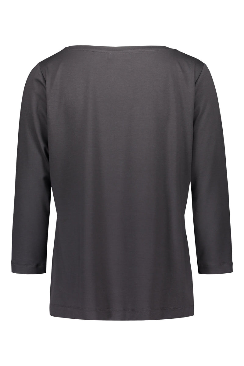 ADALINA ¾ Sleeve Top dark grey back