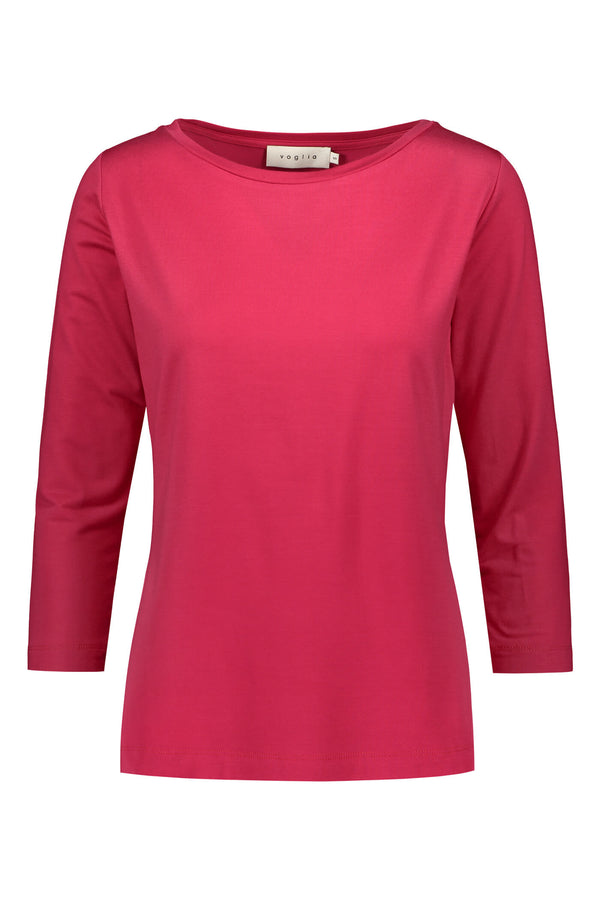 ADALINA ¾ Sleeve Top raspberry red front