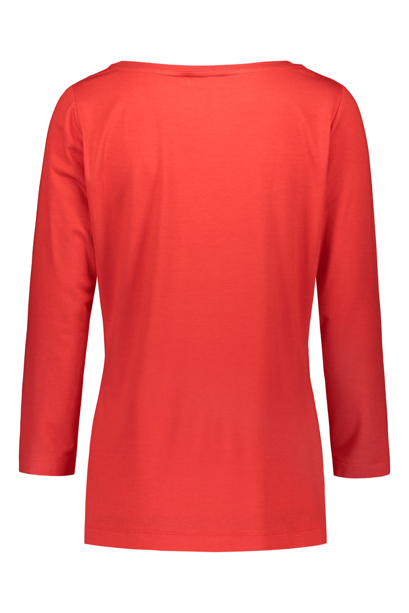 ADALINA ¾ Sleeve Top red back