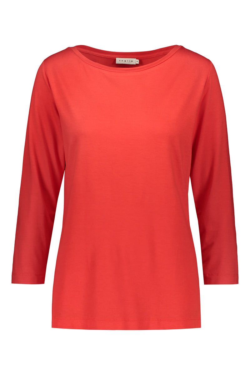 ADALINA ¾ Sleeve Top red front