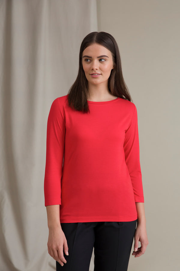 ADALINA ¾ Sleeve Top red