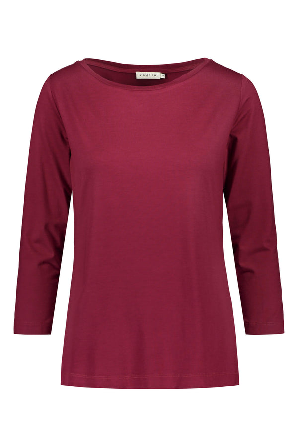 ADALINA ¾ Sleeve Top wine red front