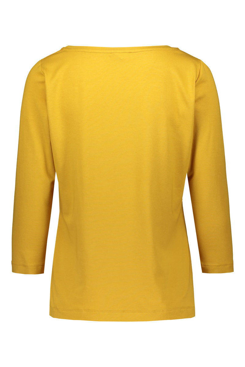 ADALINA ¾ Sleeve Top yellow back