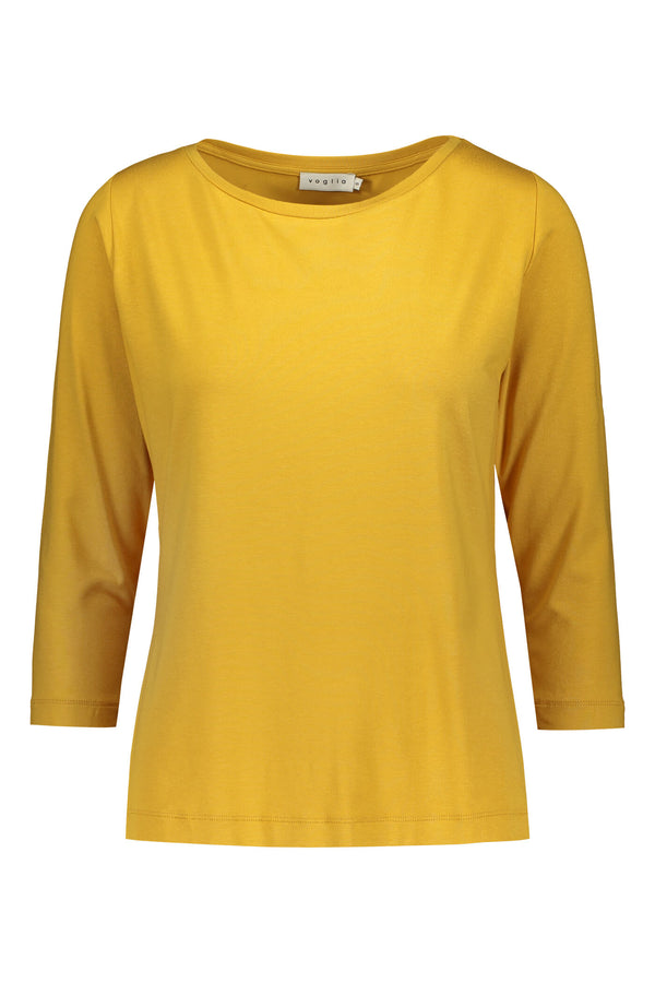 ADALINA ¾ Sleeve Top yellow front