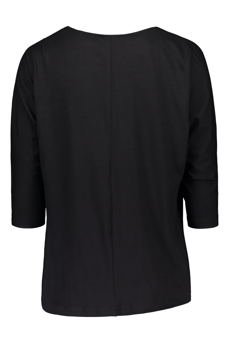 Amelie batwing loose top black back