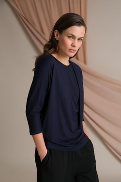 Amelie batwing loose top dark blue