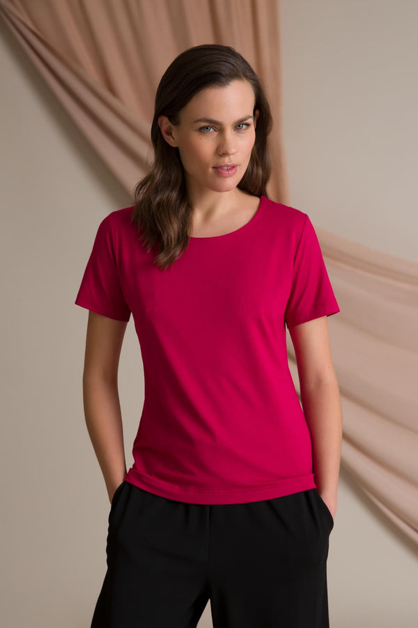 Basic crew neck t-shirt dark red